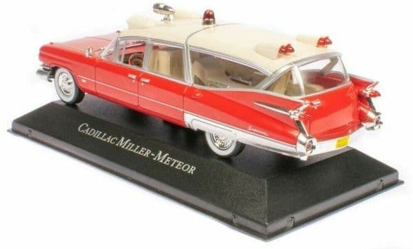 Atlas KX02 1/43 Scale Ambulance Cadillac Superior Miller Meteor With Stretcher